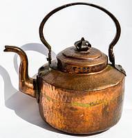 Антикварный редкий чайник,заварник! Медь,1,250 мл.