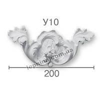 Гипсовая лепнина декоративный угол у-10