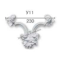 Гипсовая лепнина декоративный угол у-11