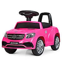 """Машина электромобиль 2в1 Bambi """"Mercedes-Benz"""". Детская каталка-толокар с 2 моторами (розовая)"""