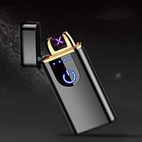 Сенсорная USB зажигалка Blek в подарочной упаковке с двойной электродугой