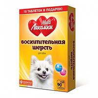 Кормова добавка «МультіЛакомки Чудова шерсть», для собак 100 табл