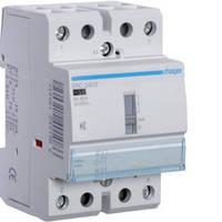 Контактор безшумный с ручным управлением 40A, 2НВ, 230В, 3м Hager (ERC240S), фото 1