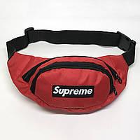 Поясная сумка в стиле Supreme красная, фото 1