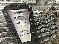 ✔️ Набор рожково-накидных ключей с трещеткой на кардане  Euro craft - 8 шт
