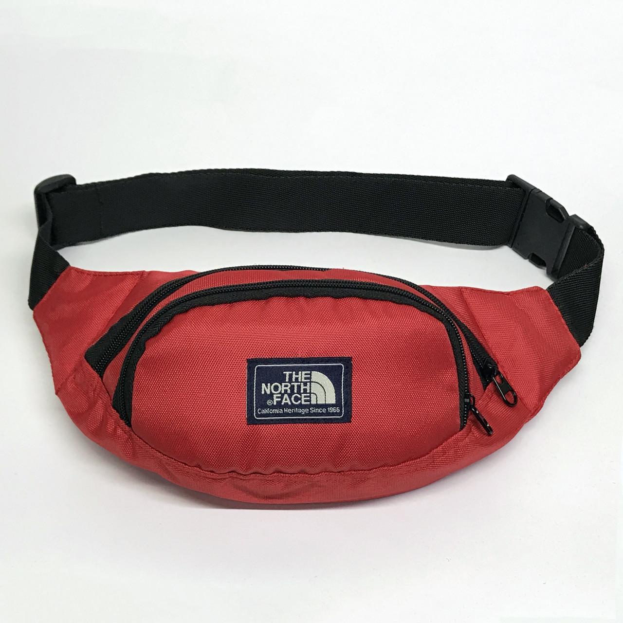 Поясная сумка в стиле TNF красная