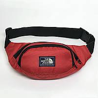 Поясная сумка в стиле TNF красная, фото 1