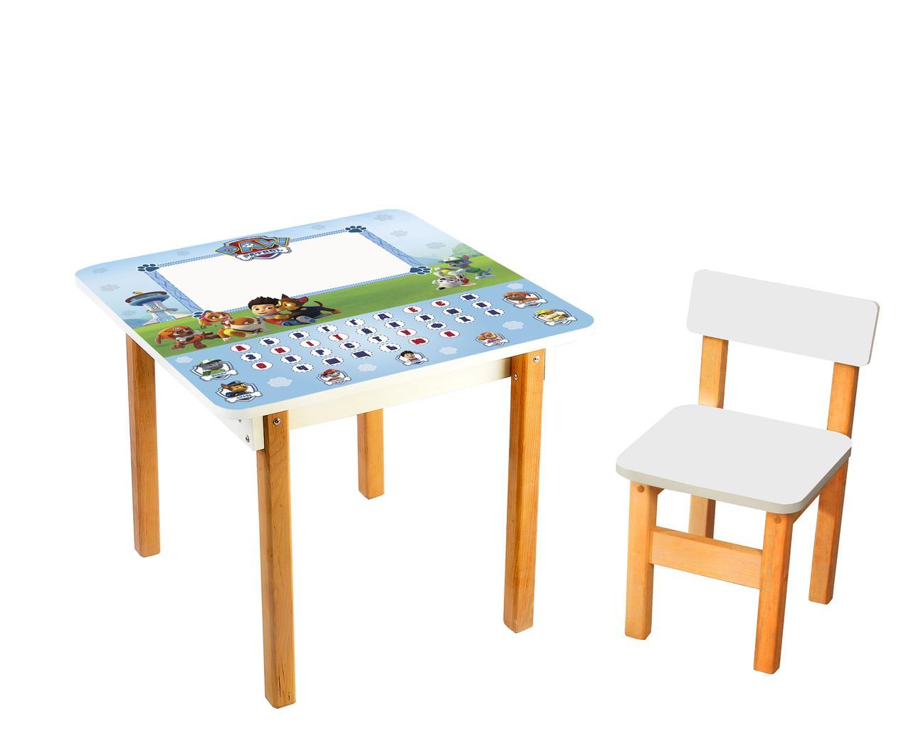 Стол детский с мольбертом + стульчик Абетка Щенячий Патруль. F81
