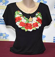"""Жіноча футболка вишиванка """"Ярина"""" чорна"""