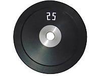 Диск стальной обрезиненный 25 кг