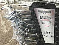✔️ Набор рожково-накидных ключей с трещеткой на кардане  Euro craft - 8 шт ( маневрировать ключем до 180° )