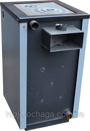 Котел отопительный дровяной PROTECH ТТП-15С Luxe с плитой, фото 2