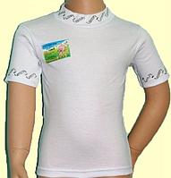 Детская футболка (гольф) для девочки со стразами и коротким рукавом Ювди Текс,