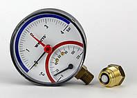 Термоманометр Watts TMAX (80 mm 0-4 bar, 120°С) радиальный