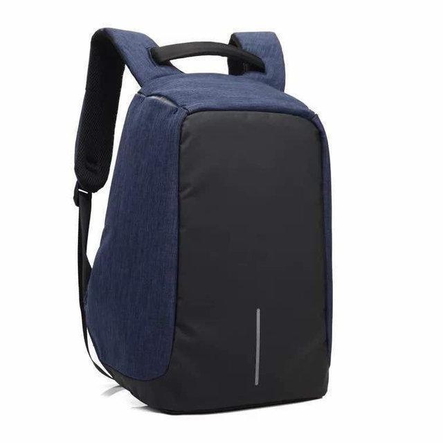 Городской рюкзак-антивор Bobby - надежная защита от карманников с USB портом Cиний