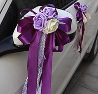 Бутоньерки на ручки и зарка свадебного авто