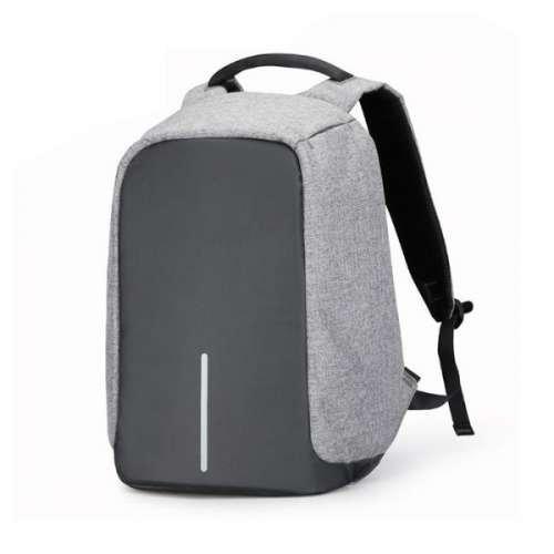 Городской рюкзак-антивор Bobby - надежная защита от карманников с USB портом Cерый