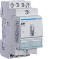 Контактор безшумный с ручным управлением 25A, 4НВ, 24В, 2м Hager (ERD425S), фото 1