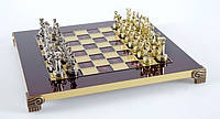 Шахматы Manopoulos 670021 28х28 см бронзовые