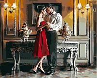 Картина по цифрам с романтическим сюжетом Романтический вечер худ Роб Хэфферан (VP374) 40 х 50 см