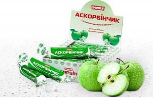 АСКОРБИНЧИК со вкусом Зеленого яблока 12 штук в коробке