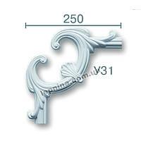 Гипсовая лепнина декоративный угол у-31