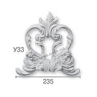 Гипсовая лепнина декоративный угол у-33
