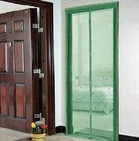 Москитная сетка на двери с магнитами от комаров, мошек и мух, 1,2м*2,1м зеленого цвета  , фото 2