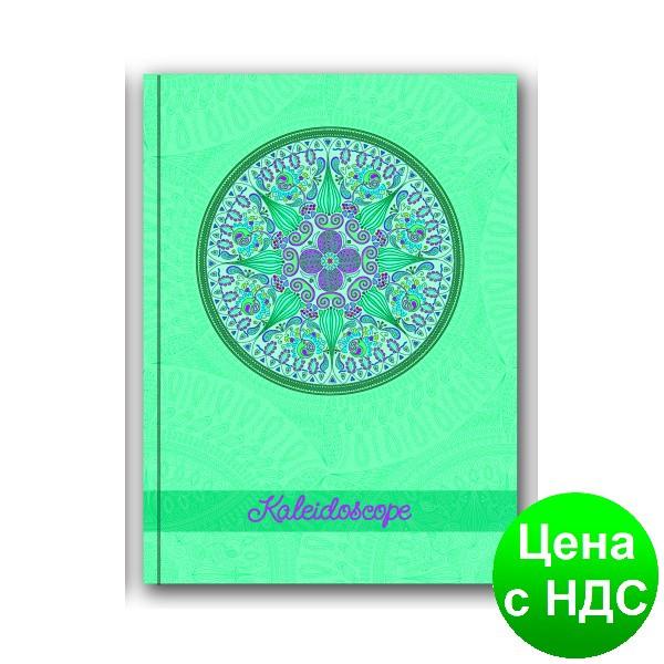 """Блокнот """"Калейдоскоп"""", А5, облож. - карт./порол., 80 листов,клет., синий  O20366-02"""