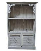 Сервант шкаф деревянный BST 530288 150×95см серый