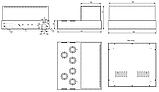 Корпус для лампового підсилювача звуку, MB-6p41 (Ш364 Г334 В176(66)) чорний, RAL9005(Black textured), фото 3