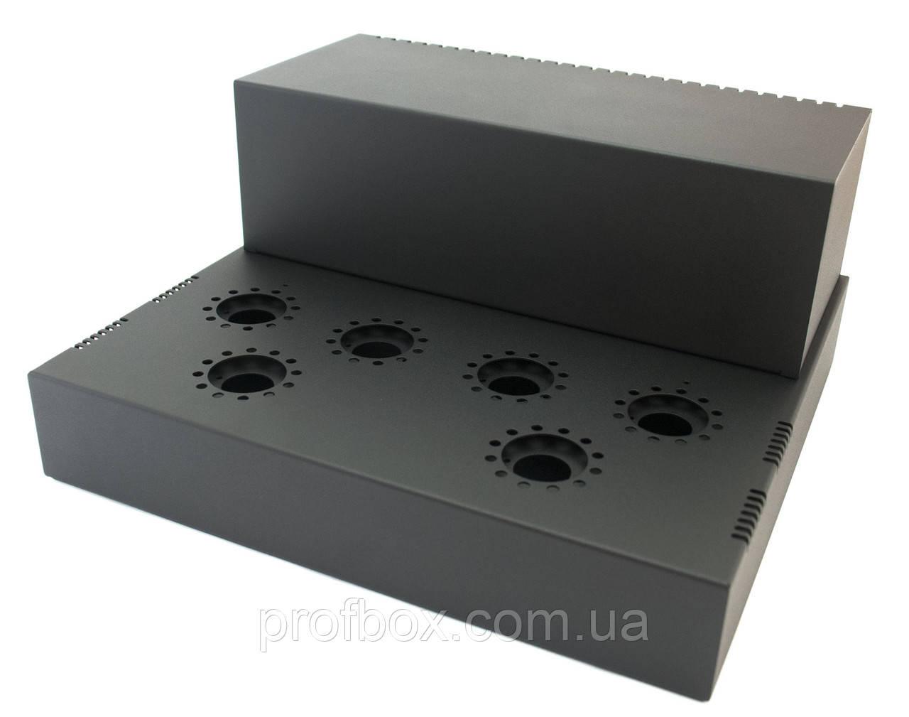 Корпус для лампового підсилювача звуку, MB-6p41 (Ш364 Г334 В176(66)) чорний, RAL9005(Black textured)