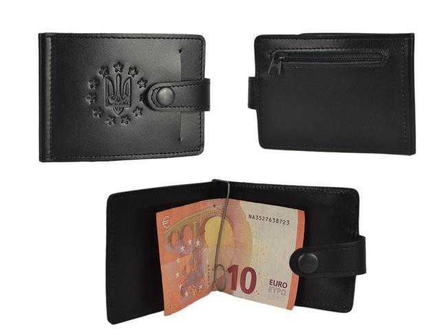 Зажим для купюр з карманом для монет 4021