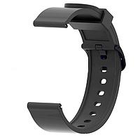 Силиконовый ремешок для смарт-часов Xiaomi AMAZFIT Bip Black (Черный)