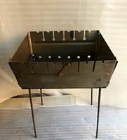 Мангал сборной, металлический на 6 шампуров двухуровневый Турист Украина, фото 1