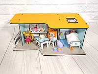 Пляжный домик мини с мебелью и текстилем