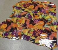 Кожа шевро Multiflower Orange лак, фото 1