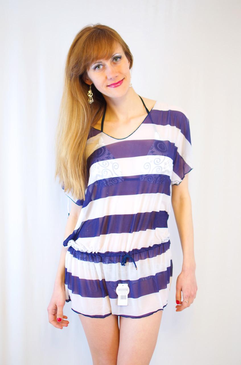 Яркая интересная модная пляжная накидка из сетки в полоску разные цвета