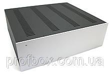 Корпус металевий з алюмінієвою панеллю MB-26 (Ш430 Г385 В132) чорний, RAL9005(Black textured)