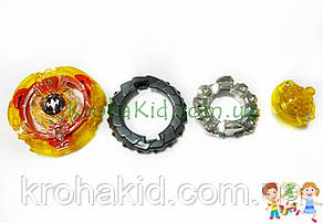 Іграшка BeyBlade Screw Trident B-103 / Бейблейд Скрю Трайдент / Тризуб (жовтий з червоним) SB, фото 2