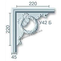 Гипсовая лепнина декоративный угол у-42б