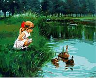 Розмальовка за номерами Літо в селі  (VP387) 40 х 50 см