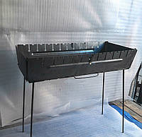 Мангал сборной, металлический на 12 шампуров двухуровневый Турист Украина, фото 1