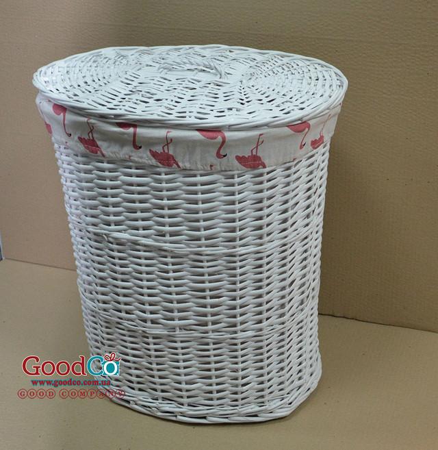 Плетеная корзина для хранения белья