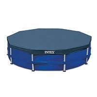 Тент для каркасного бассейна Intex 28032, Чехол для круглого бассейна 457см, Крышка для бассейна