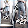 Джинсы женские американка с открытым коленом размер норма 26-31,голубого цвета