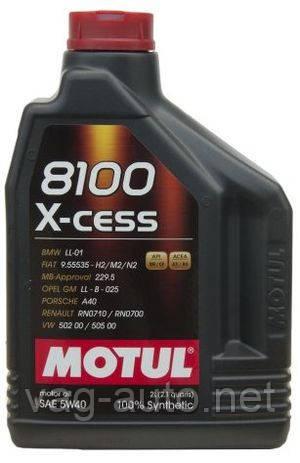 Моторное масло Motul 8100 X-cess 5W-40-C3 (2L)