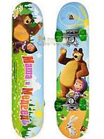 Детский Скейт в сумке Маша и медведь MM 0009