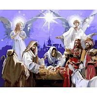 "Картина по номерам, картина-раскраска ""Рождество Христово"" 40Х50см VP 995"