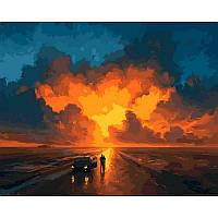 "Картина по номерам, картина-раскраска ""Представление небес"" 40Х50см VP1076"